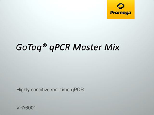 GoTaq qPCR Master Mix Video